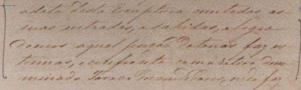Irecê - arrendatários - Fac-Smile Parte 3 de Escritura de 1807 referente as terras de Irecê