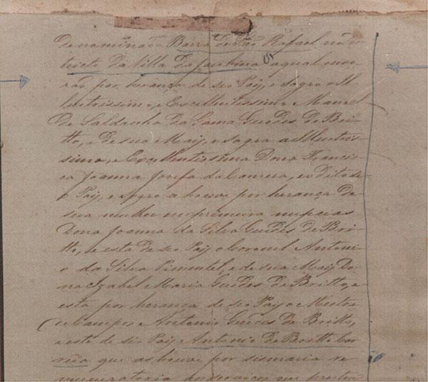 Irecê - arrendatários - Fac-Smile Parte 2 de Escritura de 1807 referente as terras de Irecê