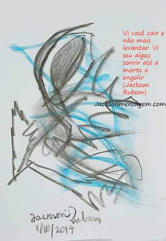 Desenho original com mensagem ataque terrorista em Marselha -2