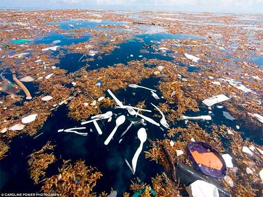 imagem 2 do mar de lixo plástico