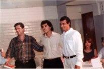 Jackson Rubem, o então deputado federal Juthay Magalhães e o então prefeito Beto Lelis - Lançamento do livro História de Irecê