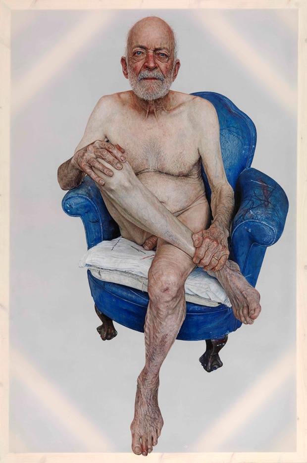 A portrait of Geri Morgan, by Emma Hopkins