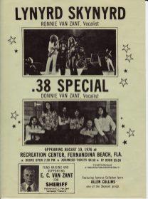 38 - Skynyrd handbill ECV