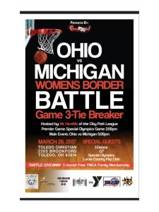 JACK'S PLACE for Autism Foundation to participate in Michigan-Ohio Women's Border Battle