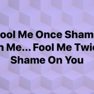 Fool Me Once Shame On Me…