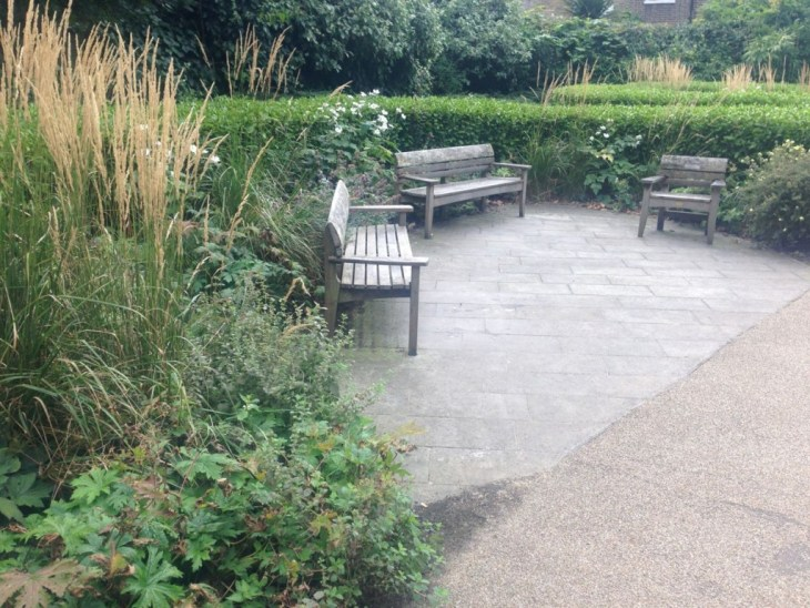 St George's Gardens, King's Cross - this seating area caught my eye