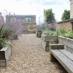 Large communal roof terrace in Fulham, London
