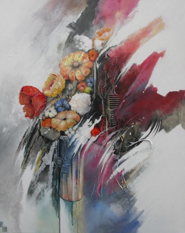 Bouquet de douceur - 80 X 100 cm