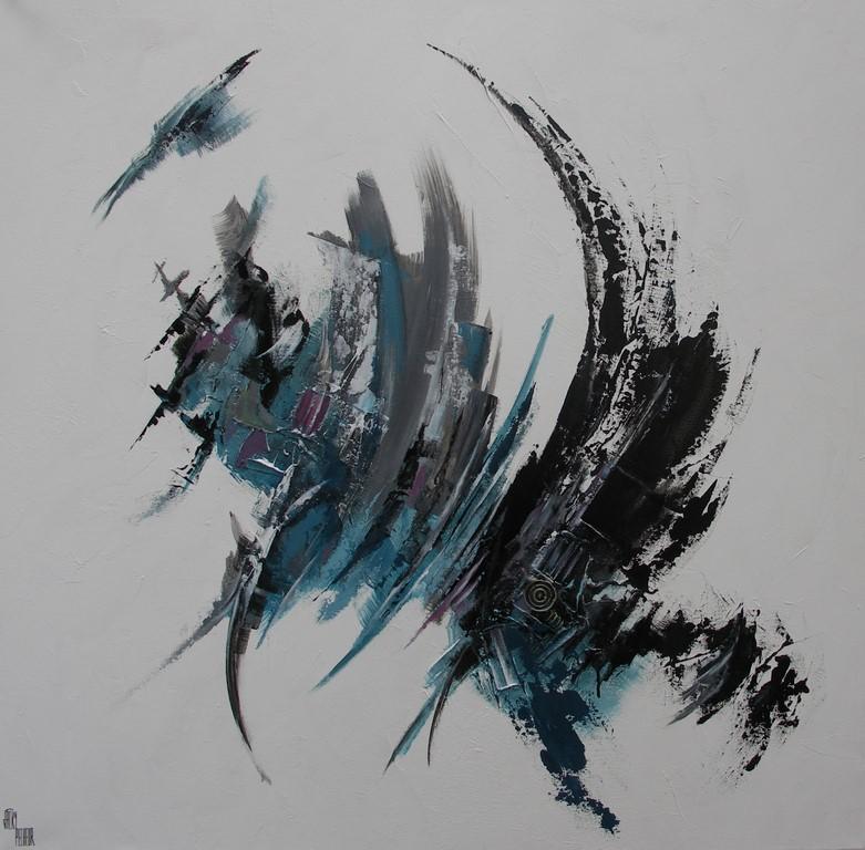 Création N°5 - 100 X 100 cm