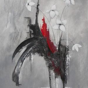 Fines fleurs - 80 X 100 cm