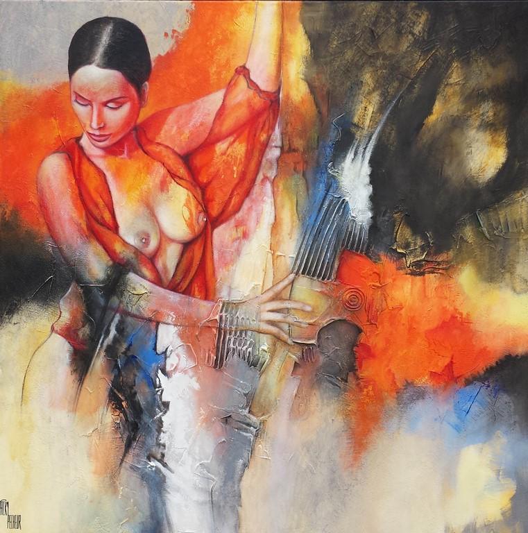 La danseuse Espagnole - 80 X 80 cm