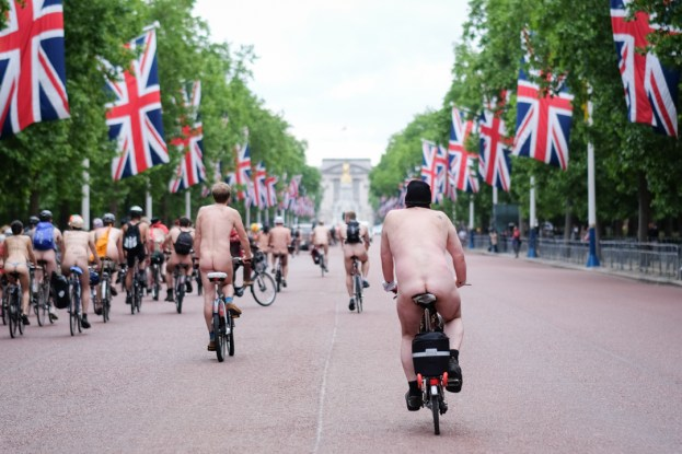 World Naked Bike Ride Day / The Mall, London, UK