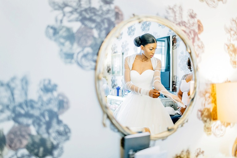 Wedding Bride at the Dorchester Hotel in London