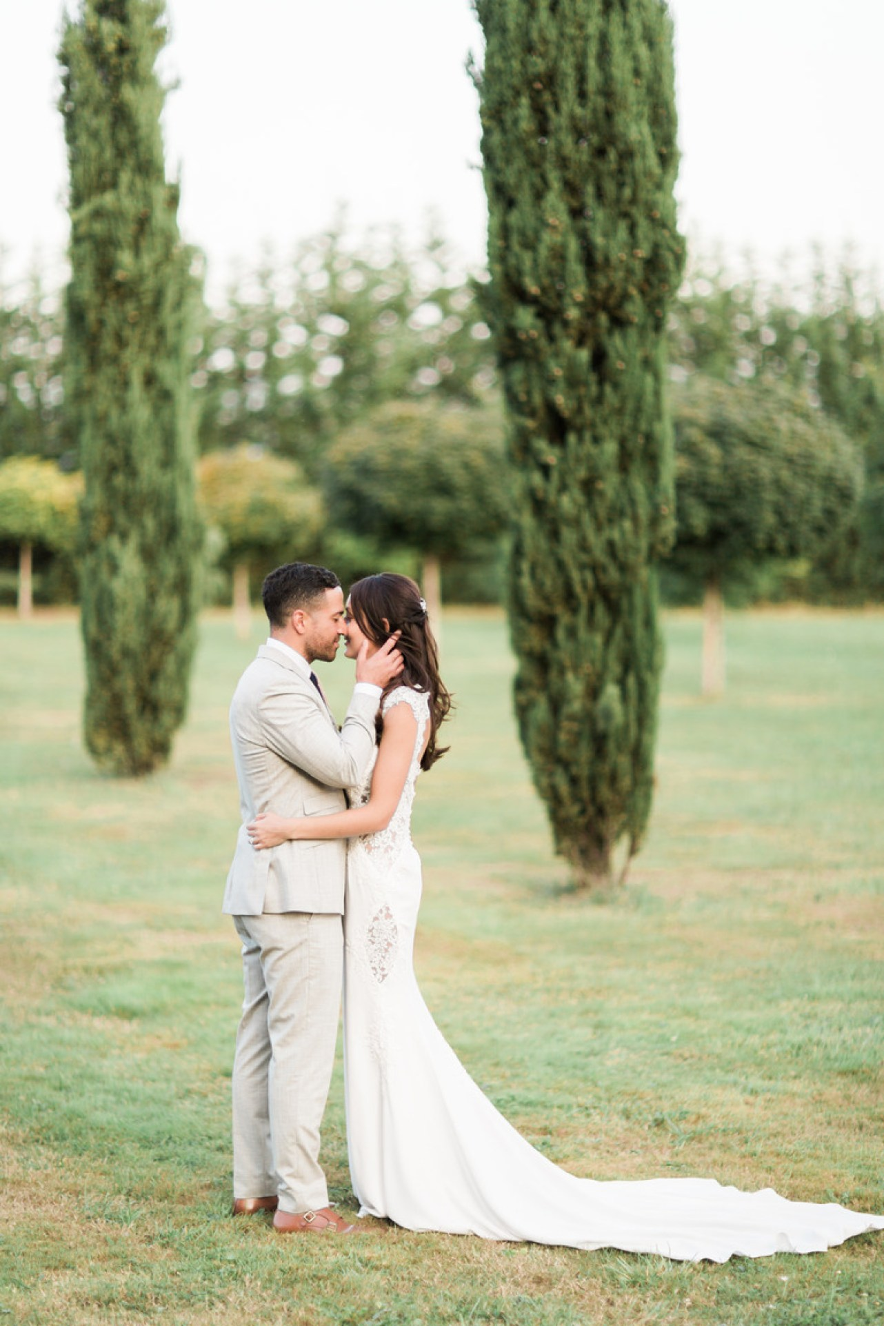 Wedding Couple at Chateau la Durantie in France