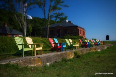 Peddocks Island relaxation area