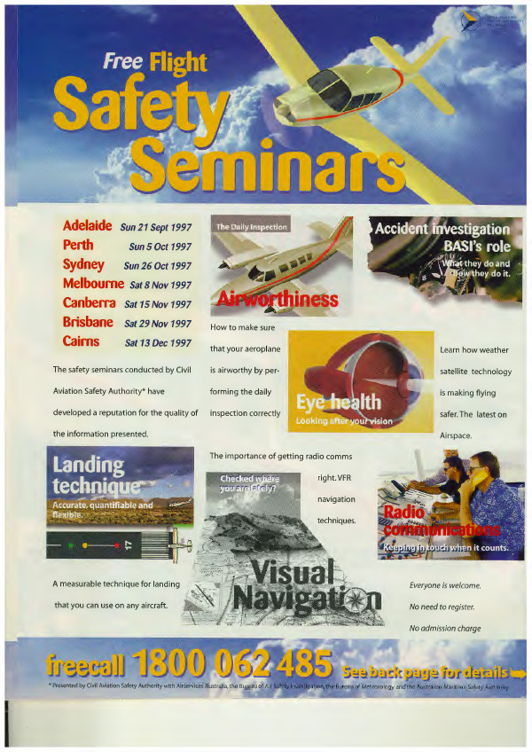 CASA Flight Safety Seminars, 1997