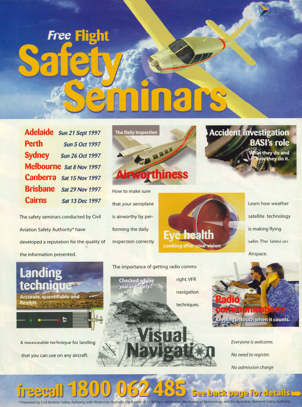 CASA Free Flight Safety Seminars September 1997