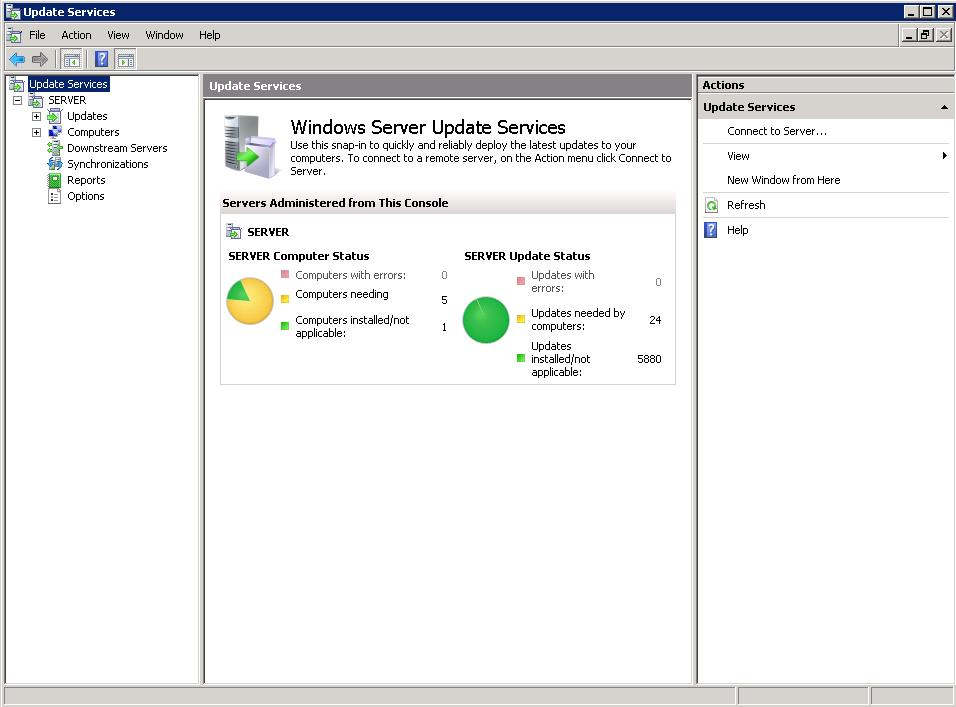 Freeing up disk space by cleaning up a WSUS server