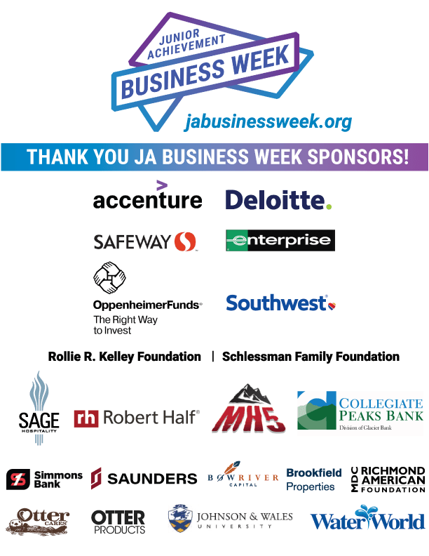 Thank you to our JA Business Week sponsors!