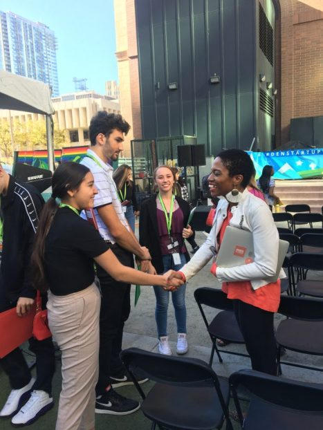 JA Students and volunteer at Denver Startup Week