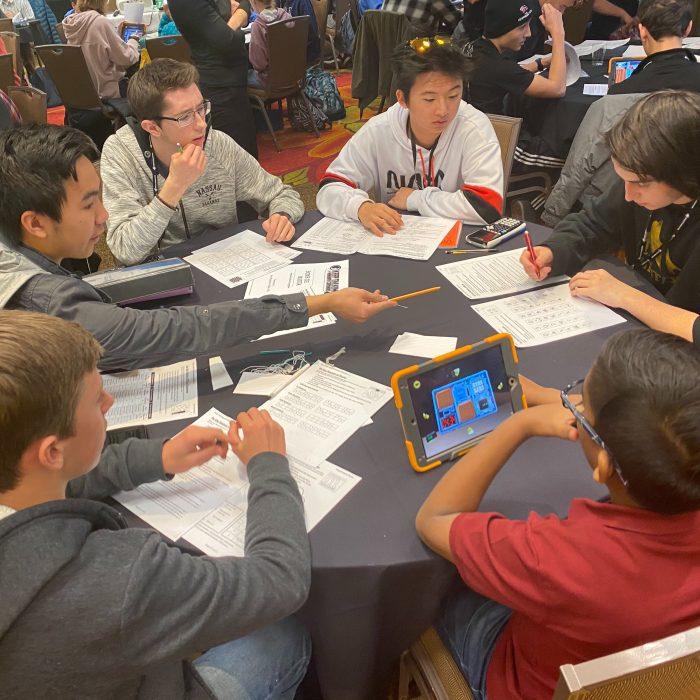 Team of STEM School Highlands Ranch students at Junior Space Entrepreneur Program