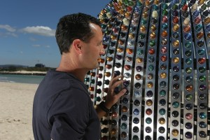 Superegg Coffee Capsule Sculpture with the Artist Jaco Roeloffs