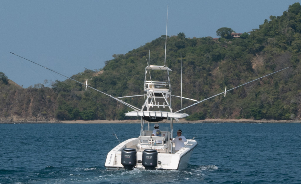 Our Venture 34 boat at Herradura Bay costa rica