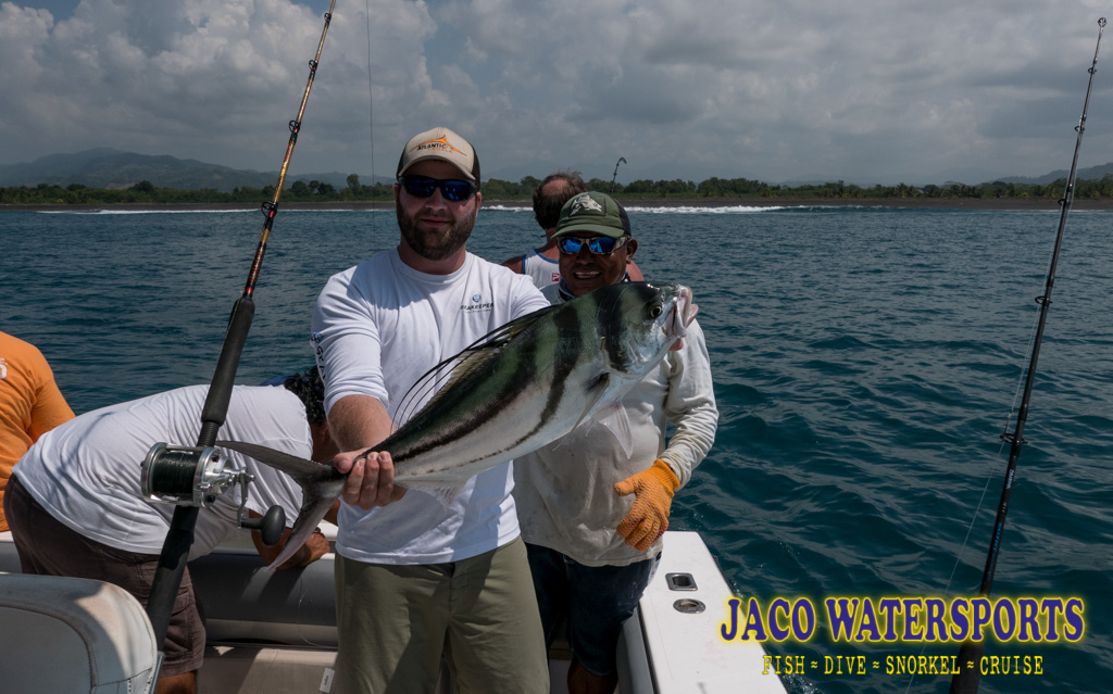 Client holding a roosterfish
