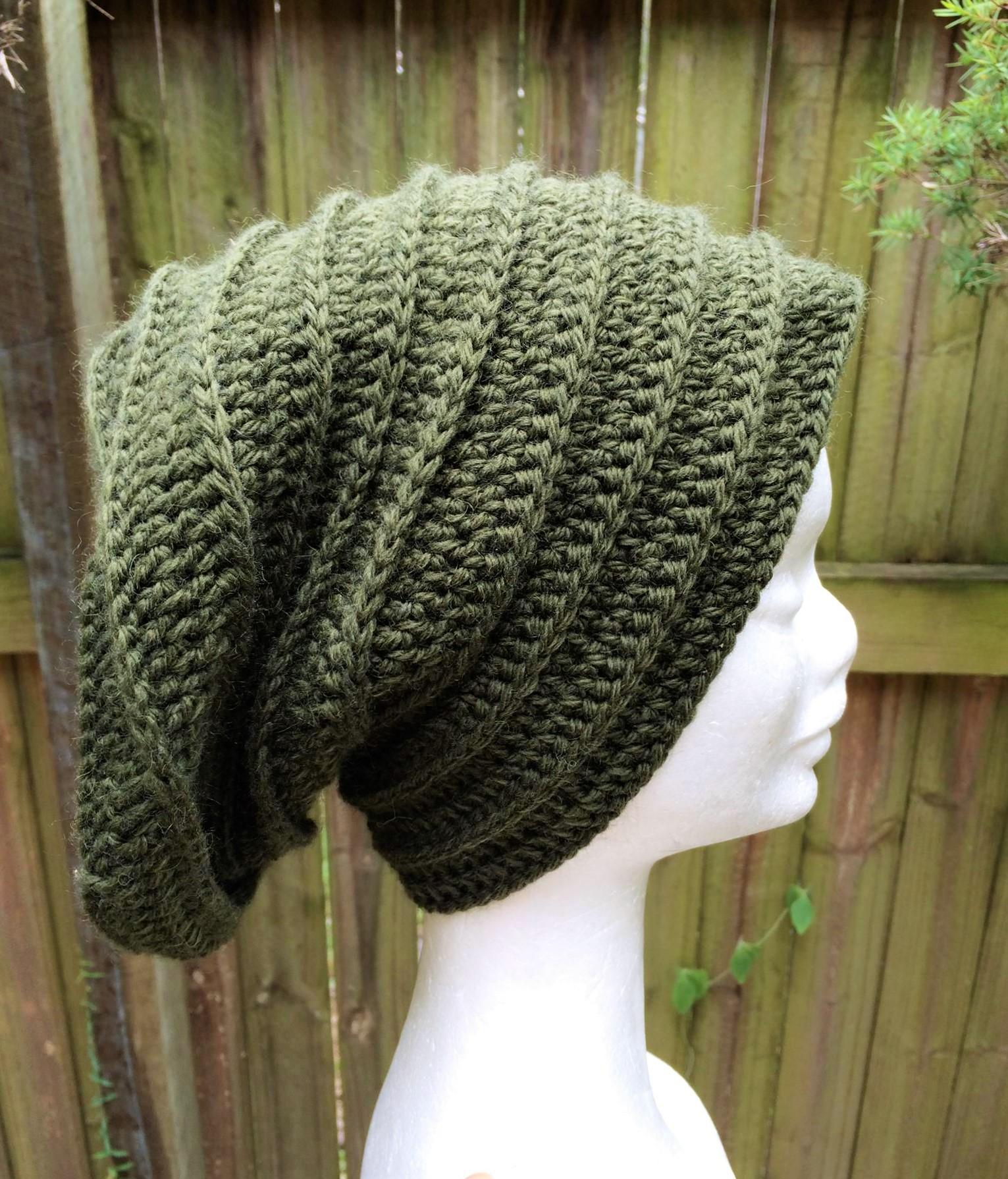 Crocheted Ribbed Beanie Pattern - Easy to Intermediate - Jacqstar ...