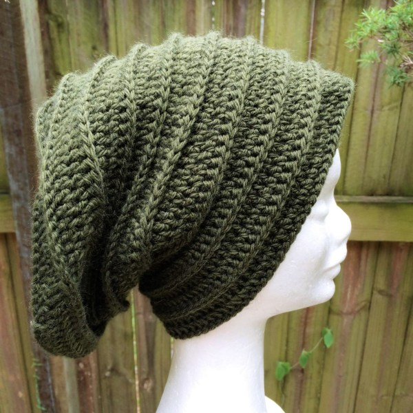 Ribbed beanie crochet Pattern