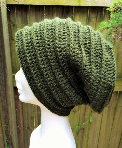 olive green slouchy beanie