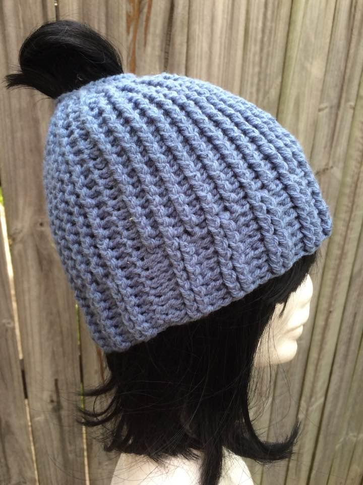 0cedb1901 Blue Ponytail beanie - Jacqstar Creations
