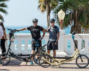 John Pilkington & Steve Burton on their ElliptiGOs from San Francisco to San Diego