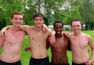 Boys Team post swim
