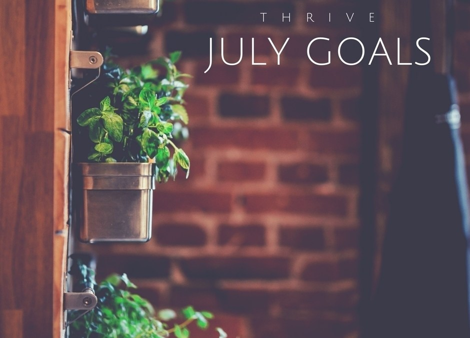Thrive | July 2017 Goals