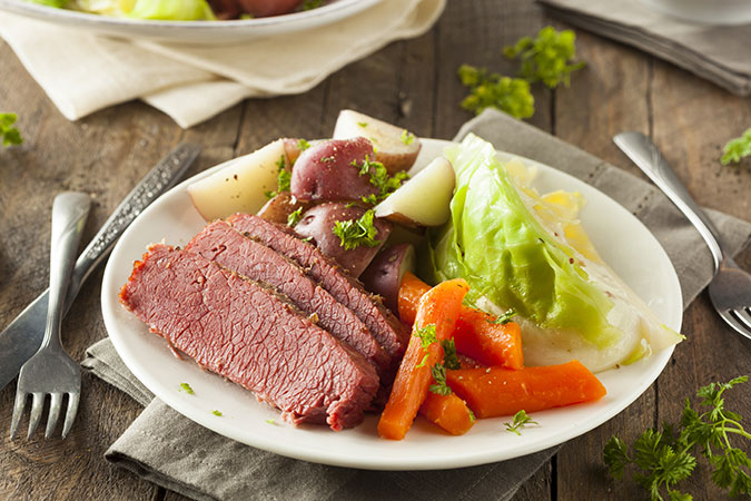 Corned beef brisket St. Patrick's Day Meal
