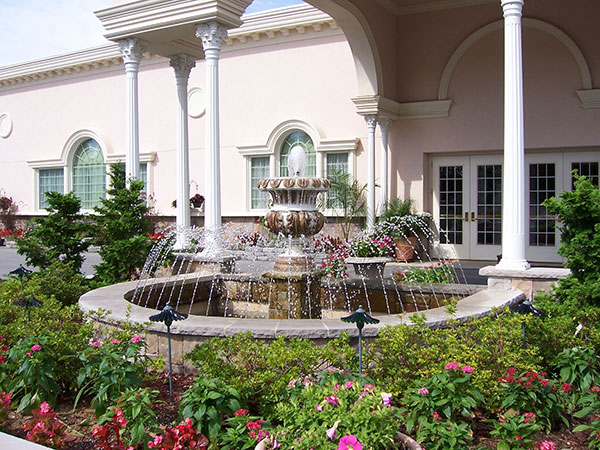 Beautiful Fountain at Jacques Reception Center