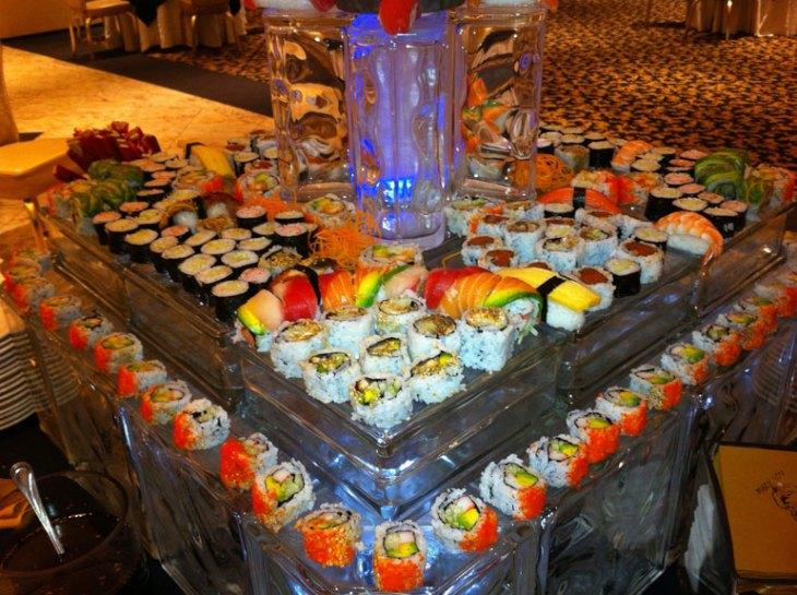 Custom Wedding Menus Feature Sushi Options