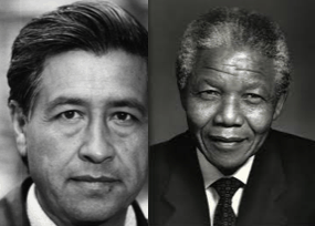 Nelson Mandela and Cesar Chaves