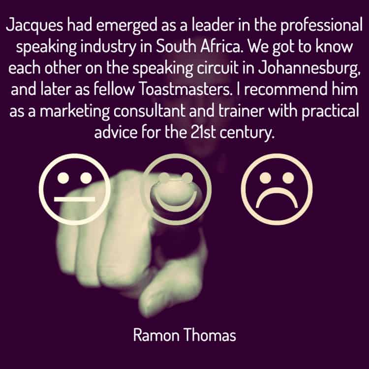 Professional Speakers Association of Southern Africa Jacques de Villiers