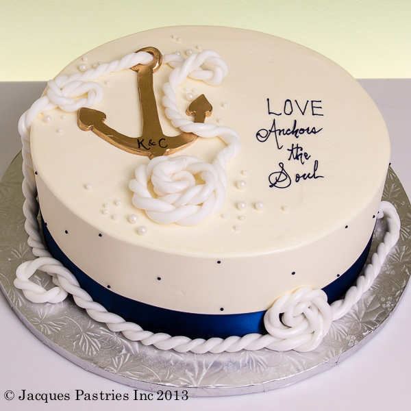 Bridal Shower Cakes Love   Anchors Cake