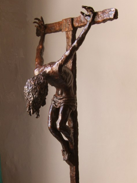 Bronze cast of one of the larger maquettes for the St Peters Crucifixion