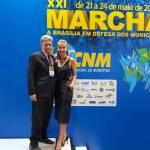 MARCHA EM DEFESA DOS MUNICÍPIO: Prefeito e Secretária de Assistência Social buscam recursos para construção do CRAS
