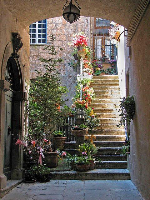 Orvieto Courtyard, Italy