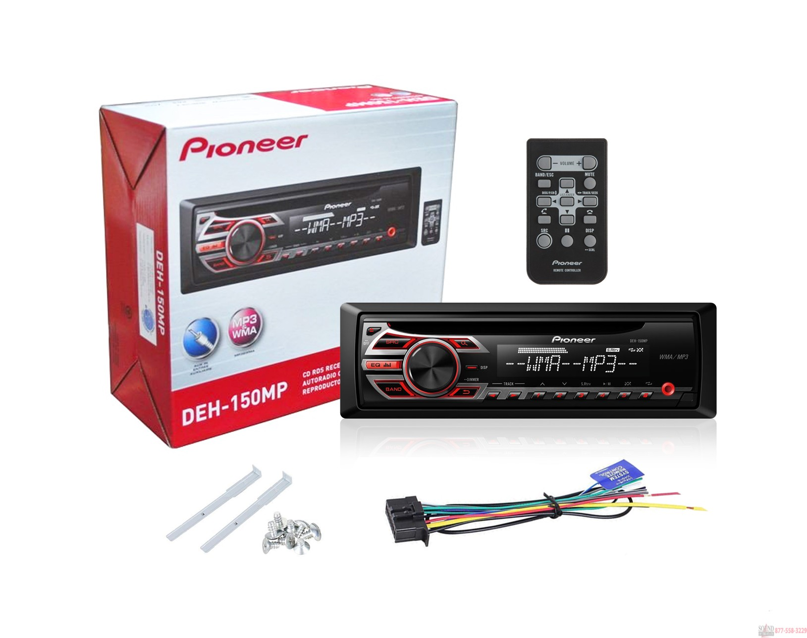 Pioneer DEH 150MP Car Stereo With MP3 Playback in box pioneer deh p8400bh wiring diagram deh p5200hd wiring diagram pioneer deh-p8400bh wiring harness at soozxer.org