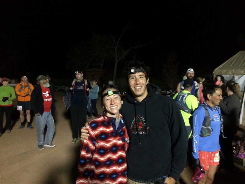 Nick and I at the start of Zion 100.
