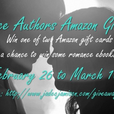 Would you like a chance at an Amazon gift card–or a free book?