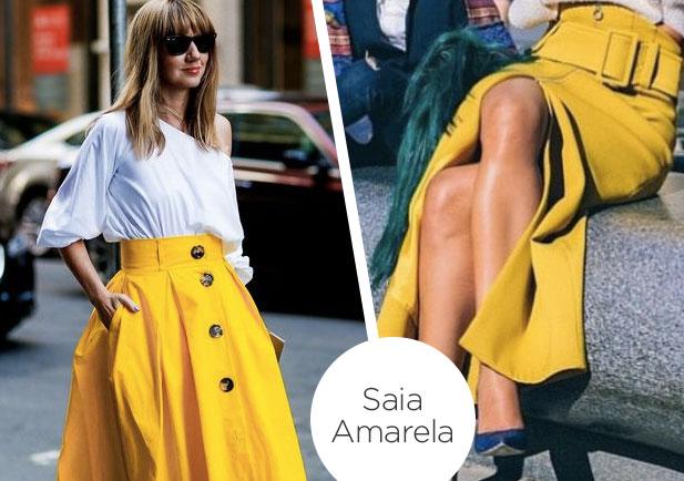 O amarelo seria a cor da vez