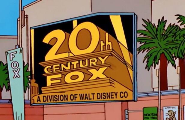Disney compra parte da 21st Century Fox por 52 Bilhões de Dólares e se torna dona de X-Men, Deadpool e Simpsons, que previu a fusão