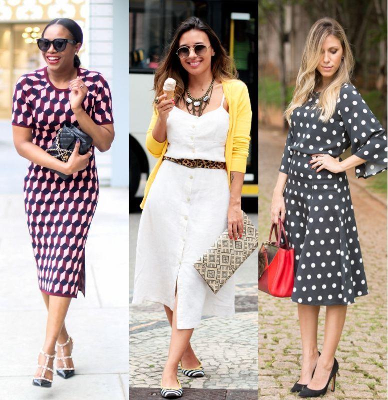 Vestido midi: como usar